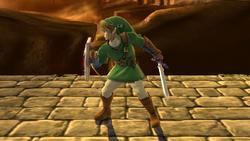 Pose de espera de Link (1) SSB4 (Wii U)