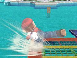 Ataque de recuperación desde el borde +100% Mario SSBB
