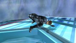 Ataque de recuperacion en el suelo cara abajo-Snake SSBB