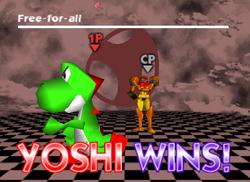 Pose de victoria de Yoshi (2-1) SSB