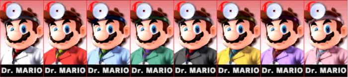 Paleta de colores de Dr. Mario SSB4 (3DS)