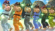 Ryu paletas de colores en escenario SSB4 (Wii U)