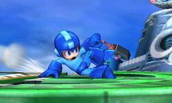 Ataque fuerte inferior de Mega Man SSB4 (3DS)