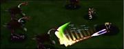 Cloud usando Haz espada en Final Fantasy VII