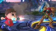 Movimiento del aldeano SSB4 (Wii U)