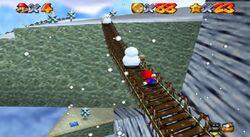 Puente en Cool, Cool Mountain en Super Mario 64