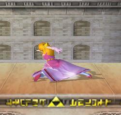 Ataque fuerte hacia abajo de Zelda SSBM