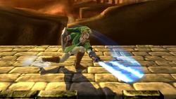 Ataque fuerte inferior de Link SSB4 (Wii U)
