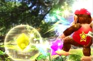 Destello atacando a Diddy Kong con Trozos de estrella SSB4 (Wii U)