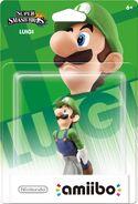 Embalaje del amiibo de Luigi (América)