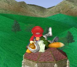 Lanzamiento hacia arriba de Mario (1) SSBM