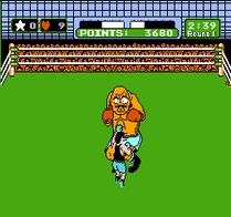 Little Mac haciendo un gancho en Punch-Out!!