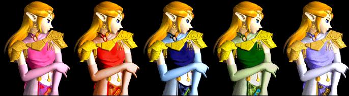 Paleta de colores Zelda SSBM