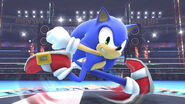 Sonic en el Ring de boxeo SSB4 (Wii U)
