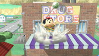 Ataque Smash hacia arriba Ness (2) SSB4 (Wii U)