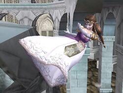 Ataque aéreo trasero Zelda SSBB