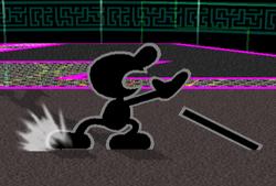 Ataque fuerte hacia abajo Mr. Game & Watch SSBM