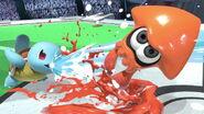 Inkling y Squirtle en Estadio Pokémon 2 SSBU