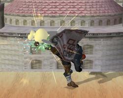 Lanzamiento trasero de Ganondorf SSBM