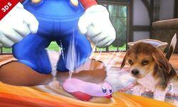 Mario y Kirby SSB4 (3DS)