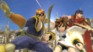 Captain Falcon, Pit e Ike en el Coliseo SSB4 (Wii U)