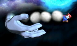 Master Hand Lanzamiento hacia atrás SSB4 (3DS)