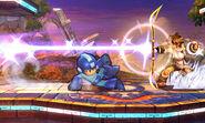 Mega Man y Pit en Campo de Batalla SSB4 (3DS)
