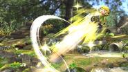 Toon Link siendo lanzado en el Vergel de la Esperanza SSB4 (Wii U)