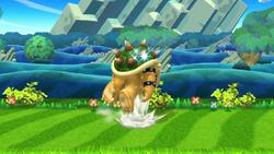 Ataque Smash hacia arriba de Bowser (1) SSB4 (Wii U)
