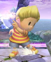 Ataque Smash inferior Lucas SSBB (1)