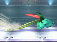 Ataque Smash lateral Ivysaur SSBB