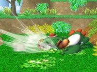Ataque Smash lateral Yoshi SSBB