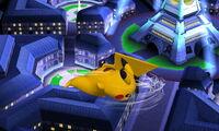 Ataque aéreo trasero Pikachu SSB4 (3DS)