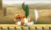 Ataque smash superior de Charizard (1) SSB4 (3DS)