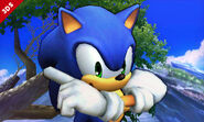 Burla hacia arriba de Sonic SSB4 (3DS)