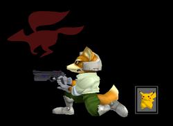 Pose de victoria Fox Y (2) SSBM