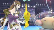 Zelda y Olimar en el Ring de boxeo SSB4 (Wii U)