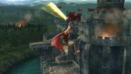 Ataque aéreo delantero de Ike (1) SSB4 (Wii U)
