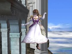 Ataque aéreo inferior Zelda SSBB