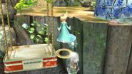 Estela haciendo un Smash meteórico a Link SSB4 (Wii U)