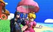 Lucina y Peach en Isla Tórtimer SSB4 (3DS)