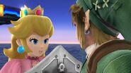 Peach y Link SSB4 (Wii U)