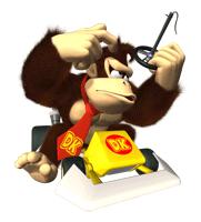 Pegatina de Donkey Kong en Mario Kart DS SSBB
