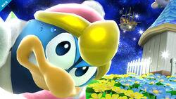 Rey Dedede con una paleta de color rosa SSB4 (Wii U)