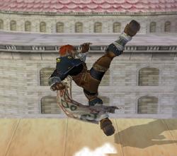 Ataque Smash hacia arriba de Ganondorf (1) SSBM