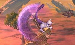 Ataque aéreo hacia atrás Mewtwo SSB4 (3DS)