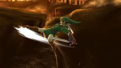 Ataque aéreo trasero de Link (2) SSB4 (Wii U)