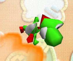Ataque aéreo hacia adelante de Yoshi SSB