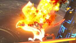 Captain Falco usando Gancho de fuego SSBU