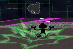 Lanzamiento hacia abajo Mr. Game & Watch SSBM